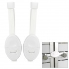 Child Safety Cabinet Door Lock - White (2 PCS)