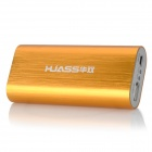 HUASS AHS-5600B 5600mAh Power Rechargeable External Battery for Cell Phones - Golden