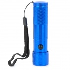 Mini 30LM White 8-LED Water Resistant Flashlight w/ Red Laser Light - Blue (3 x AAA)