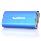 HUASS AHS-5600B 5600mAh Power Rechargeable External Battery for Cell Phones - Blue