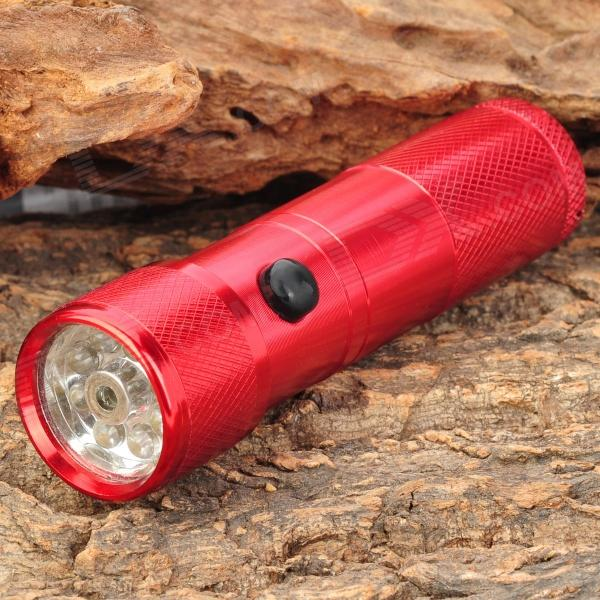 Stylish 30LM White 8-LED Water Resistant Flashlight w/ Red Laser Light - Red (3 x AAA) mini 8 led 30lm white light flashlight w 5mw red laser black 3 x aaa