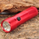 Stylish 30LM White 8-LED Water Resistant Flashlight w/ Red Laser Light - Red (3 x AAA)