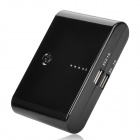 HUASS AD100 Portable External 10000mAh Power Battery Charger mit 5 Adapter - Schwarz