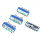 Replacement Steel Shaver Heads for Manual Razor - Grey + Green + Blue (4 PCS)