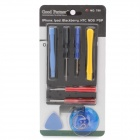 10-in-1 Professional Opening Pry Tools Set for Ipad / Iphone / Ipod - Blue + Yellow + Red