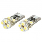 T10 2W 180lm 8-SMD 1210 LED White Light Decode Car Clearance Lamp (12V / 2 PCS)