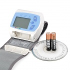 "BP600W 1.7"" LCD Oscillometric Wrist Blood Pressure Meter - Light Blue + White (2 x AAA)"