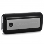HUASS Portable External 5600mAh Power Battery Charger with 4 Adapters - Black