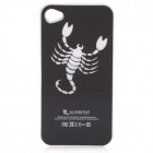 Scorpion Pattern Protective Plastic Back Case w/ 7 Color LED Lights for Iphone 4 / 4S - Black