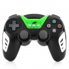 Rechargeable Bluetooth Wireless DoubleShock SIXAXIS Controller for PS3 - Black + Green
