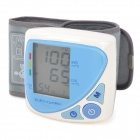 "BP610W 2.0"" LCD Oscillometric Wrist Blood Pressure Meter - Light Blue + White (2 x AAA)"