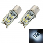1156 5W 340lm 16-SMD 5050 LED White Light Decode Auto Bremse Lampe (12V / 2 PCS)