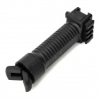 Retractable Spring Bipod Stand Front Fore Grip for 20mm Caliber Gun - Black