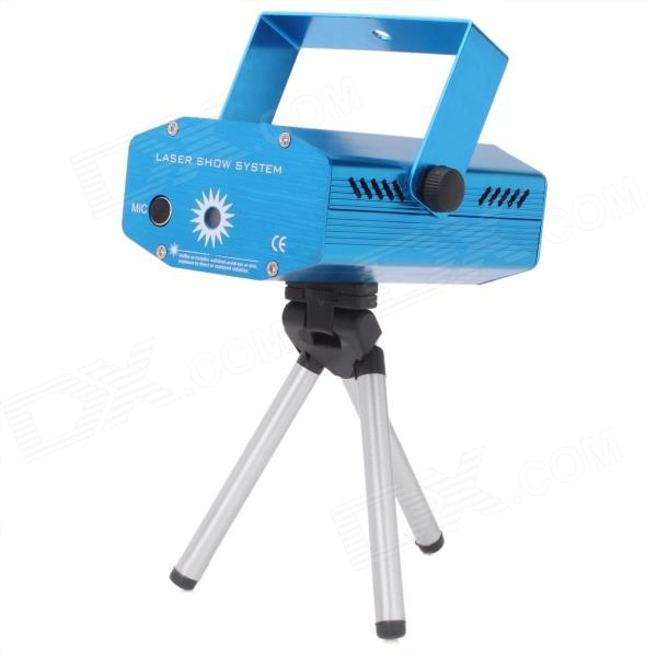 50mW Green + 100mW Red Laser Show Stage Lighting Projector - Blue (2-Flat-Pin Plug / AC 110~240V )