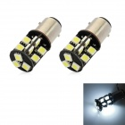 1157 3W 360lm 19-SMD 5050 LED White Light Decode Car Backup Lamp (12V / 2 PCS)