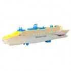 Electric Ocean Liner Boat Toy w/ Lighting / Sound Effect - White + Yellow (3 x AA)