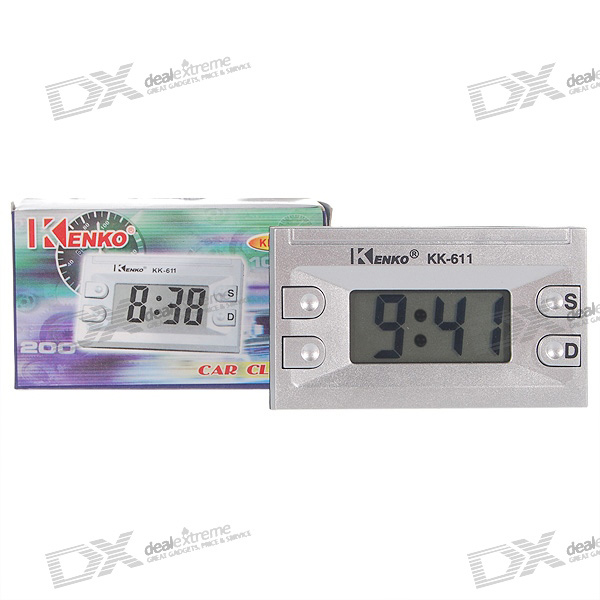 12-Hours Large LCD Display Digital Clock with Calendar