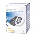 "BP800A 2.6"" LCD Oscillometric Arm Blood Pressure Meter - Blue + White (4 x AA)"