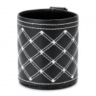 Car Air Inlet Hanging Type Basket Pocket - Black + White
