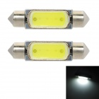 Festoon 39mm 3W 60lm 1-SMD LED White Light Car Tail Lamp (12V / 2 PCS)