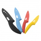 "Multi-color 3"" / 4"" / 5"" / 6"" Kitchen Ceramic Knife Set - Yellow + Red + Blue + Black (4 PCS)"