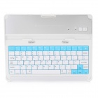 Fashion 78-Key Rechargeable Bluetooth V2.0 Wireless Keyboard for iPad 2 / 3 - White