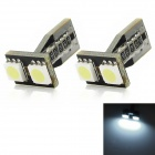 T10 1W 85lm 2-SMD 5050 LED White Light Decode Car Abstand Lampe (12V / 2 PCS)