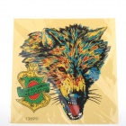 DIY Motorcycle / Car Hairy Wolf Beauty Sticker - Yellow + Green