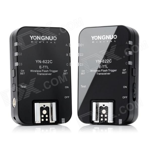 Yongnuo YN-622C Wireless E-TTL Flash Trigger Transceiver Set for Canon EOS DSLR - Black (2 PCS) yongnuo yn622c wireless e ttl 1 8000s flash trigger for canon 5d3