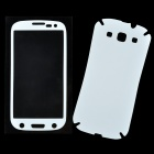 Protective PVC Front + Back Screen Protector Sticker Set for Samsung i9300 - White