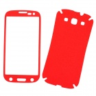 Protective PVC Front + Back Screen Protector Sticker Set for Samsung i9300 - Red