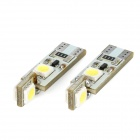 T10 2W 100lm 4-SMD 5050 LED White Decode Car Plate License Light (12V / 2 PCS)
