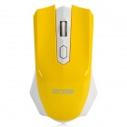 Fashion Car Style 2.4GHz 1000/1600 DPI Wireless Optical Mouse - Yellow + White (1 x AA)