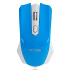 Fashion Car Style 2.4GHz 1000/1600 DPI Wireless Optical Mouse - Blue + White (1 x AA)
