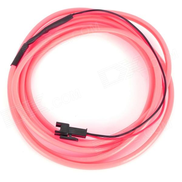 Waterproof Decorative EL Cold Light Flexible Cable w/ 12V Drive - Pink (1.5m)