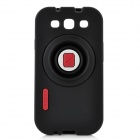 Protective Silicone Back Case with Holder for Samsung Galaxy S3 / i9300 - Black
