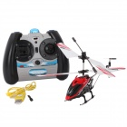 Rechargeable 3-CH IR Remote Control R/C Helicopter - Red + Black