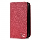 Protective Cow Leather + Plastic Case for Samsung i9300 - Red