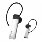 IP-200 Bluetooth V2.1 Stereo Headset w/ Earhook / EU Plug Adapter - Silver + Black