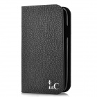 Protective Cow Leather + Plastic Case for Samsung i9300 - Black