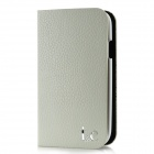 Protective Cow Leather + Plastic Case for Samsung i9300 - White