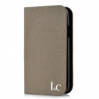 Protective Cow Leather + Plastic Case for Samsung i9300 - Brown