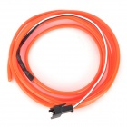 Waterproof Decorative EL Cold Light Flexible Cable w/ 12V Drive - Red (1.5m)