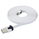 USB Male to 5-Pin Micro USB Male Flat Charging / Data Cable - White (300cm)