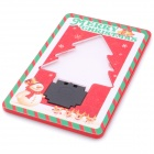 Unique Novelty Xmas Tree Green Light  LED Pocket Card Lamp - Red (1 x CR1220)
