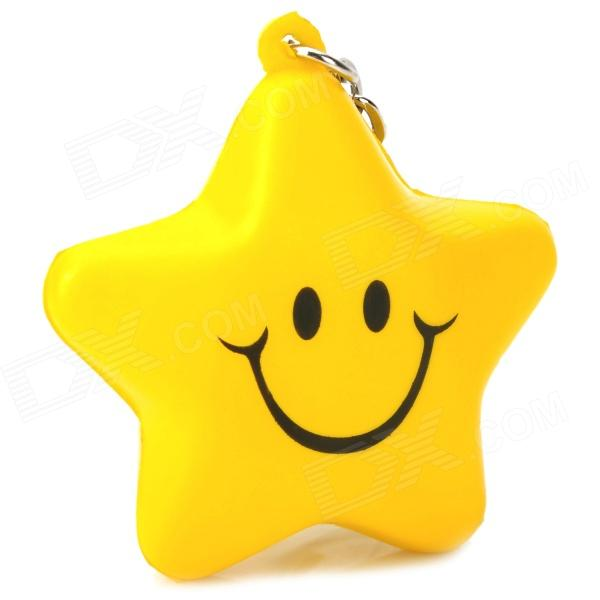 Cute Five-Pointed Star Smiley Face Style Keychain - Yellow коляска трость baby care gt4 blue 17