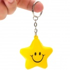 Cute Five-Pointed Star Smiley Face Style Keychain - Yellow