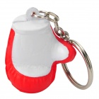 Cute Boxing Glove Style Keychain - Red + White