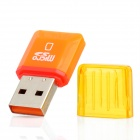 Diamond High-Speed USB 2.0 Micro SD SDHC TF Card Reader - Orange (Max. 32GB)