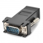 VGA Male to RJ45 Female Adapter for CAT 5 / CAT 6 - Black